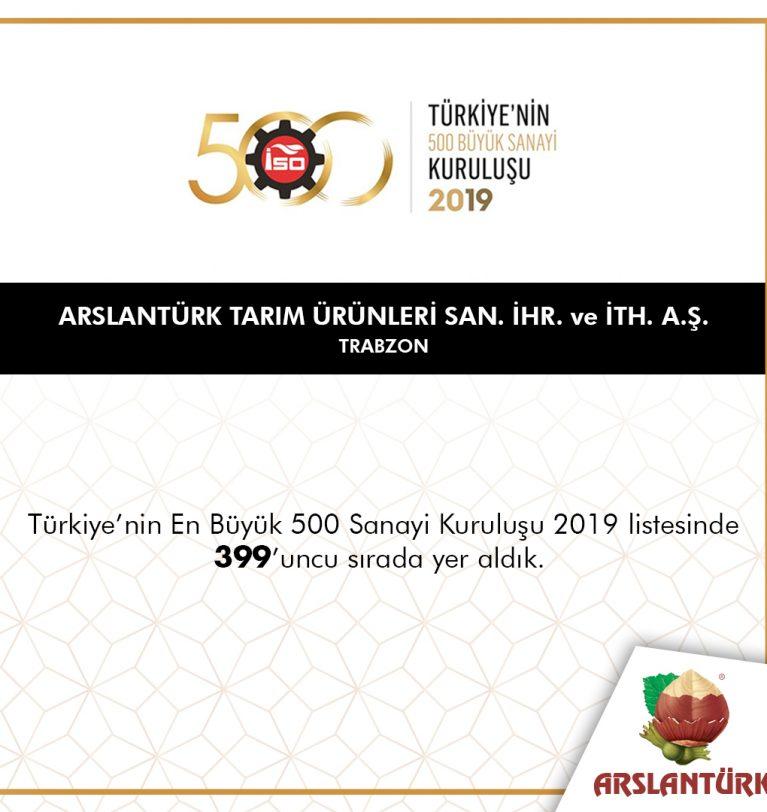 TÜRKİYE'NİN 500 BÜYÜK SANAYİ KURULUŞU 2019 LİSTESİ YAYINLANDI
